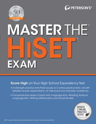 Master the HiSet, 1st edition - Peterson's book