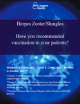 Herpes Zoster/Shingles - Have You Recommended Vaccination to Your Patients?