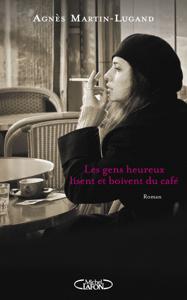 Les gens heureux lisent et boivent du café La couverture du livre martien