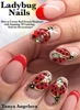 Ladybug Nails: How To Create Red French Manicure With Stunning 3D Ladybug Nail Art Decorations?