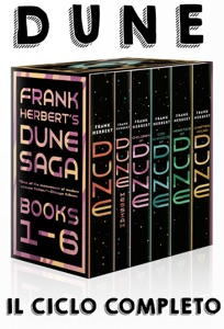 DUNE Il ciclo completo di Frank Herbert: DUNE ,Messia di Dune, I figli di Dune, L'imperatore-Dio di Dune, Gli eretici di Dune, La rifondazione di Dune. Book Cover