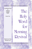 Download The Holy Word for Morning Revival - Crystallization-study of Joshua, Judges, Ruth, Volume 2 ePub | pdf books