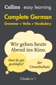 Easy Learning German Complete Grammar, Verbs and Vocabulary (3 books in 1) Book Cover