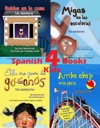 4 Spanish Books For Kids - 4 Libros Para Nios With Pronunciation Guide In English