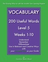 Vocabulary 200 Useful Words - Level 5
