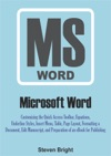 Microsoft Word Customizing The Quick Access Toolbar Equations Underline Styles Insert Menu Table Page Layout Formatting A Document Edit Manuscript And Preparation Of An EBook For Publishing