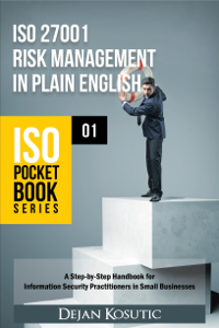 ISO 27001 Risk Management in Plain English La couverture du livre martien