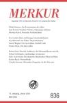 MERKUR Gegrndet 1947 Als Deutsche Zeitschrift Fr Europisches Denken - 2019-1