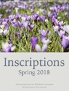 Inscriptions Spring 2018