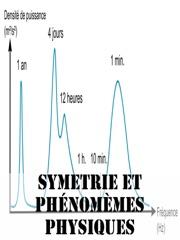 Symétrie et phénomèmes physiques