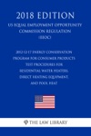 2012-12-17 Energy Conservation Program For Consumer Products - Test Procedures For Residential Water Heaters Direct Heating Equipment And Pool Heat US Energy Efficiency And Renewable Energy Office Regulation EERE 2018 Edition