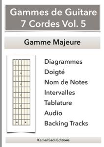Gammes de Guitare 7 Cordes Vol. 5 La couverture du livre martien
