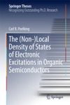 The Non-Local Density Of States Of Electronic Excitations In Organic Semiconductors