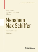 Menahem Max Schiffer: Selected Papers Volume 2