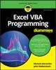 Excel VBA Programming For Dummies.