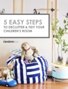 5 Easy Steps TO DECLUTTER  TIDY YOUR CHILDRENS ROOM