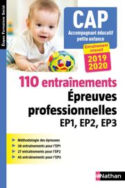 110 entraînements - Epreuve professionnelles EP1, EP2, EP3 - CAP Accompagnant éducatif petite enfance - 2018