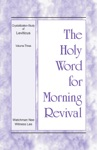 The Holy Word For Morning Revival  The Crystallization-study Of Leviticus Volume 3