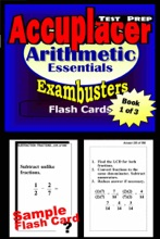 Accuplacer Test Prep Arithmetic Review--Exambusters Flash Cards--Workbook 1 Of 3