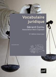 Vocabulaire juridique La couverture du livre martien