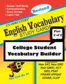 Exambusters English Vocabulary Study Cards: College Vocabulary Builder--Part 2 of 2