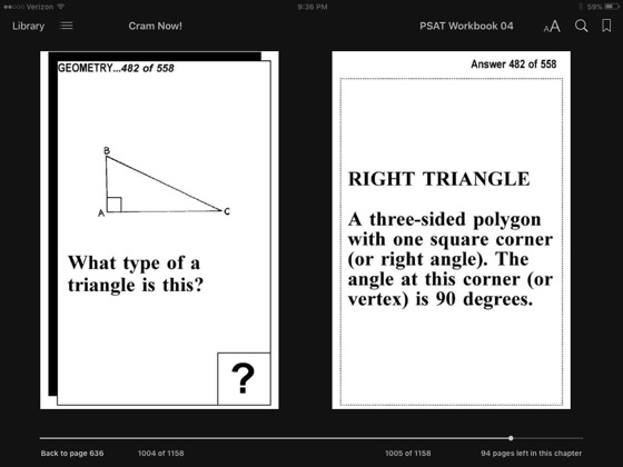 PSAT Test Prep Arithmetic Review--Exambusters Flash Cards--Workbook 4 of 6