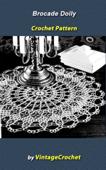 Brocade Doily Vintage Crochet Pattern eBook
