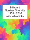Billboard Number One Hits 1955-2016 With Video Links