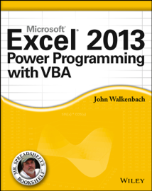 Excel 2013 Power Programming with VBA book