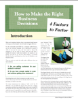 How to Make the Right Business Decisions