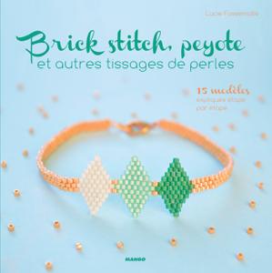 Brick stitch, peyote et autres tissages de perles La couverture du livre martien