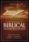 Introduction To Biblical Interpretation