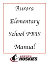 Aurora Elementary School PBIS Manual