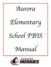 Aurora Elementary School PBIS Manual