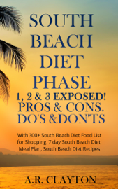 South beach Diet Phase 1, 2 & 3 EXPOSED! Pros & Cons. Do's & Don'ts. With 300+ South Beach Diet Food List for Shopping, 7 day South Beach Diet Meal Plan, South Beach Diet Recipes book