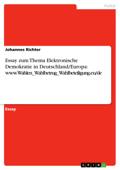 Essay zum Thema Elektronische Demokratie in Deutschland/Europa: www.Wahlen_Wahlbetrug_Wahlbeteiligung.eu/de