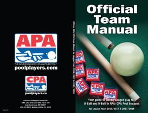 Official APA/CPA Pool Leagues Team Manual Book Review