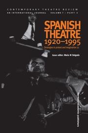 Spanish Theatre 1920 1995