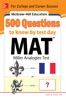 McGraw-Hill Education 500 MAT Questions to Know by Test Day