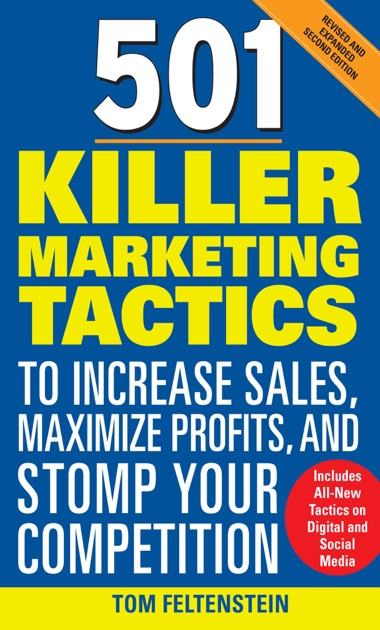 501 killer marketing tactics to increase sales maximize for Sales marketing tactics