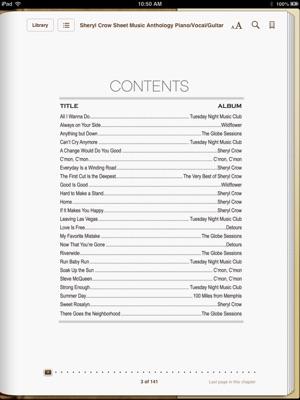 Sheet music book new vegas
