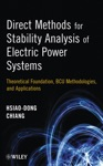 Direct Methods For Stability Analysis Of Electric Power Systems