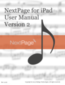 NextPage for iPad User Manual Version 2