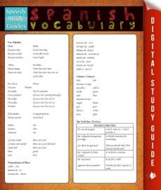 Spanish Vocabulary Study Guide