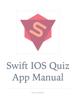 Jakk Sutt - Swift iOS Quiz App Manual artwork