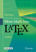 More Math Into LaTeX Book Cover