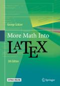 More Math Into LaTeX Book Cover