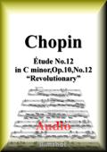 ショパン 革命のエチュード Op.10 No.12(Audio演奏付)ピアノ・ソロ Book Cover