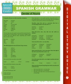 Spanish Grammar Speedy Study Guides