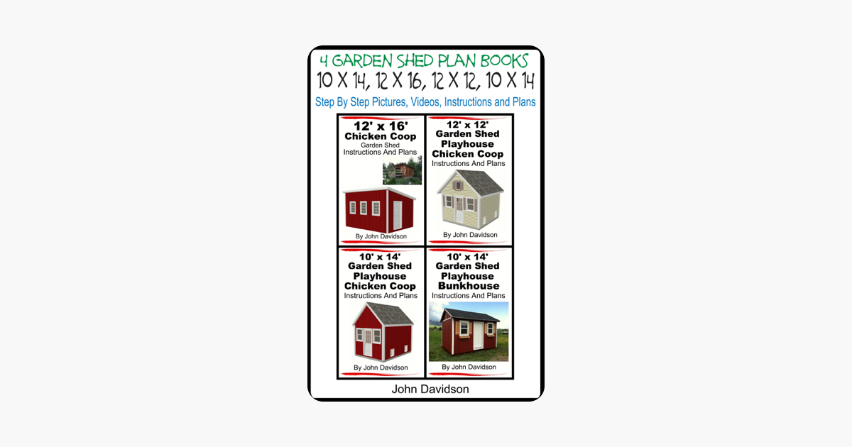 12' x 16' Chicken Coop Garden Shed Instructions and Plans
